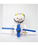 NEW - Snowman Pilot Wooden Ornament Christian Steinbach