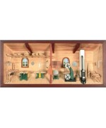 German wooden 3D-picture box-Diorama Joinery Painted