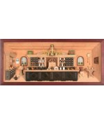 German wooden 3D-picture box-Diorama Pharmacy