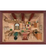 German wooden 3D-picture box-Diorama Hobby Workshop Painted