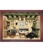 German wooden 3D-picture box-Diorama Hunter