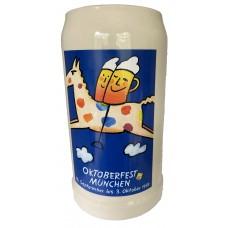 The Official Munich Oktoberfest-Stein 1999 Beerstein - Blue - 1,0 Liter