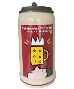 The Official Munich Oktoberfest-Stein 2003 Beerstein with Lid - 1,0 Liter