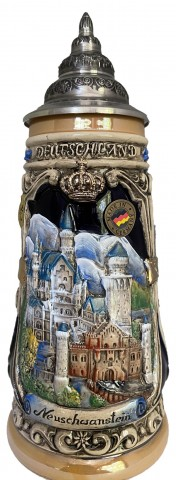 Neuschwanstein Castle Germany 0.5 L Beer Stein