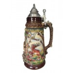 Wildlife Grotto with OWL - 2 Liter Beer Stein