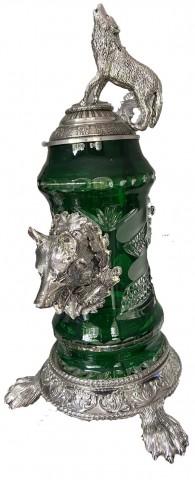 Green Wolf Crystal' OKTOBERFEST 0.5 L. Beer Stein