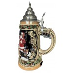 Santa and Toy Train 0.75 L Beer Stein
