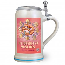 NEW - The Official Munich Oktoberfest Beer Stein 2020 - 1 Liter with Lid
