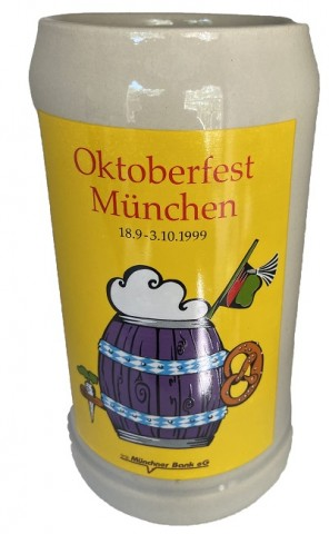 The Official Munich Oktoberfest-Stein 1999 Beerstein - 1,0 Liter