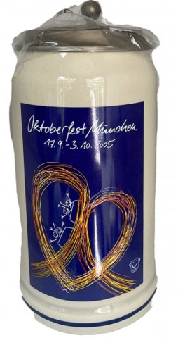 The Official Munich Oktoberfest-Stein 2005 Beerstein - 1,0 Liter TEMPORALLY OUT OF STOCK