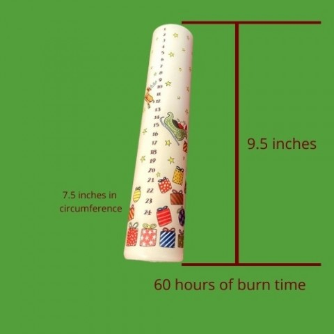 Advent Candle Santa 60 Hours of Burn Time
