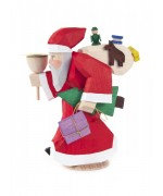 NEW - Bettina Franke - Santa Claus Candle Holder Figure