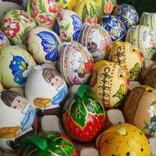 Austrian Hand Painted Easter Eggs - Special Set
