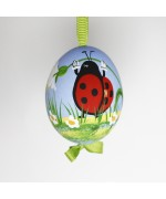 NEW - Christmas Easter Salzburg Hand Painted Easter Egg - Ladybug