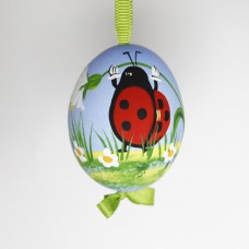 NEW - Christmas Easter Salzburg Hand Painted Easter Egg - Ladybug