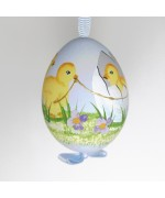 NEW - Christmas Easter Salzburg Hand Painted Easter Egg - Chicks