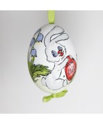 NEW - Christmas Easter Salzburg Hand Painted Easter Egg - Easter Rabbit