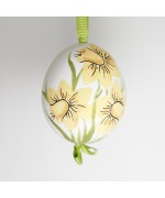 NEW - Christmas Easter Salzburg Hand Painted Easter Egg - Daffodils