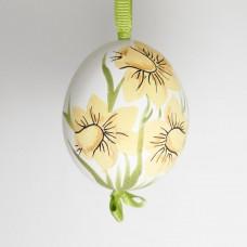 NEW - Christmas Easter Salzburg Hand Painted Easter Egg - Daffodils