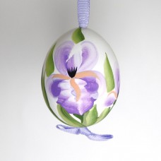 NEW - Christmas Easter Salzburg Hand Painted Easter Egg - Purple Flowers