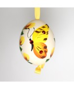 NEW - Christmas Easter Salzburg Hand Painted Easter Egg - Yellow Butterfly