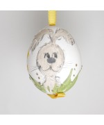 NEW - Christmas Easter Salzburg Hand Painted Easter Egg - Rabbit