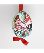 Christmas Easter Salzburg Hand Painted Easter Egg - Winter Cardinals - TEMPORARILY OUT OF STOCK