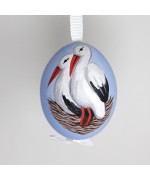 NEW - Christmas Easter Salzburg Hand Painted Easter Egg - Storks