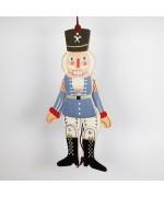 NEW - German Hampelmann Jumping Jack Wooden Toy - Blue Nutcracker