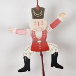 NEW - German Hampelmann Jumping Jack Wooden Toy - Red Nutcracker