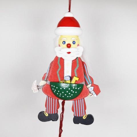 NEW - German Hampelmann Jumping Jack Wooden Toy - Workshop Santa