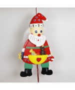 German Hampelmann Jumping Jack Wooden Toy - Large Santa - TEMPORARILY OUT OF STOCK