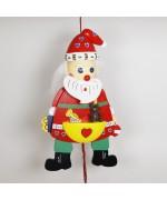 NEW - German Hampelmann Jumping Jack Wooden Toy - Large Santa