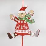 NEW - German Hampelmann Jumping Jack Wooden Toy - Winter Bear