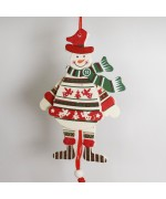 NEW - German Hampelmann Jumping Jack Wooden Toy - Snowman TEMPORARILY OUT OF STOCK