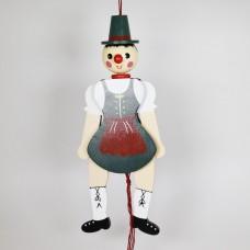 NEW - German Hampelmann Jumping Jack Wooden Toy - Bavarian Girl