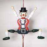NEW - German Hampelmann Jumping Jack Wooden Toy - Bavarian Boy