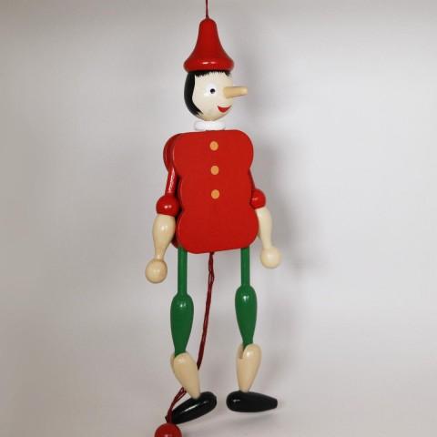 NEW - German Hampelmann Jumping Jack Wooden Toy - Pinocchio