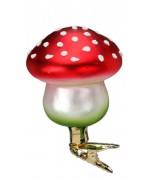 NEW - Inge-Glas Clip On Mushroom Ornament