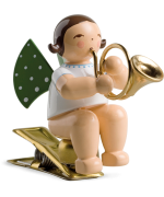 NEW - Wendt & Kuhn Angel with French Horn - Clip On Ornament