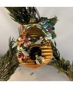 Artglass Ornament Beehive - TEMPORARILY OUT OF STOCK