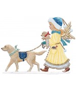 Angel Walking Dogs 2019 Wilhelm Schweizer Christmas Pewter - TEMPORARILY OUT OF STOCK