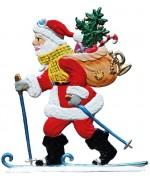 NEW - Wilhelm Schweizer Christmas Pewter 2018 Santa Skiing