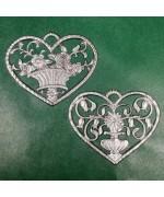 Special Set - Wilhelm Schweizer Unpainted Pewter - Flower Ornaments