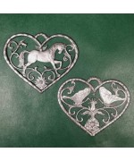 Special Set - Wilhelm Schweizer Unpainted Pewter - Horse and Butterfly Ornaments