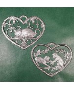 Special Set - Wilhelm Schweizer Unpainted Pewter - Cat Ornaments