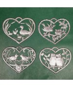 Special Set - Wilhelm Schweizer Unpainted Pewter - Bird Ornaments