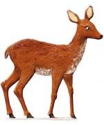 NEW - Winter Roe Deer Wilhelm Schweizer Standing Pewter