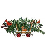 Train Car with Tree 2019 Christmas Pewter Wilhelm Schweizer - TEMPORARILY OUT OF STOCK