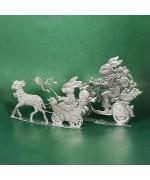 Special Set - Wilhelm Schweizer Unpainted Pewter - Bunnies on Wheels
